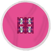 Pic11_coll1_14022018 Round Beach Towel