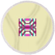 Pic12_coll1_14022018 Round Beach Towel