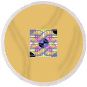 Pic12_coll2_14022018 Round Beach Towel
