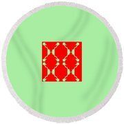 Pic13_coll1_14022018 Round Beach Towel