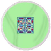 Pic14_coll1_14022018 Round Beach Towel