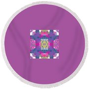 Pic7_coll1_14022018 Round Beach Towel