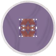 Pic8_coll1_14022018 Round Beach Towel
