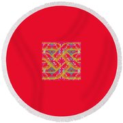 Pic8_coll2_14022018 Round Beach Towel