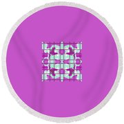 Pic9_coll1_14022018 Round Beach Towel