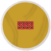 Pic9_coll2_14022018 Round Beach Towel