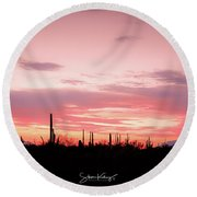 Picacho Sunset Round Beach Towel