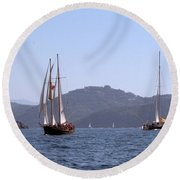 Picante And Patricia Belle Round Beach Towel