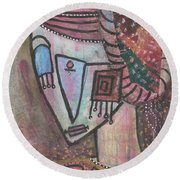 Picasso Inspired Round Beach Towel
