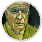 Picasso Round Beach Towel