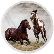 Picasso - Wild Stallion Battle Round Beach Towel by Nadja Rider