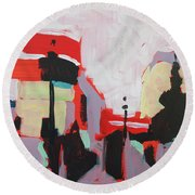 Piccadilly Circus Round Beach Towel by Nop Briex