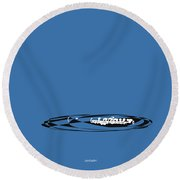 Piccolo In Blue Round Beach Towel by David Bridburg