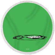 Piccolo In Green Round Beach Towel by David Bridburg