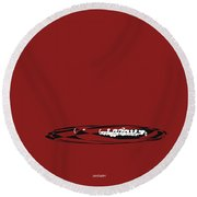 Piccolo In Orange Red Round Beach Towel by David Bridburg