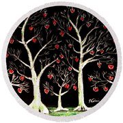 The Valentine Forest Round Beach Towel