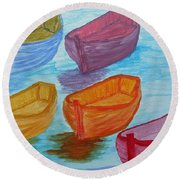 Pick Your Boat Round Beach Towel