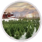 Pick Your Tree Round Beach Towel