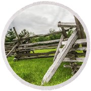 Picket Fence Round Beach Towel