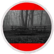Picnic Anyone? Round Beach Towel