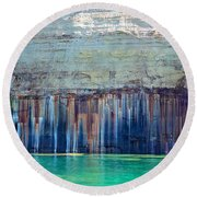 Picture Rock Two Round Beach Towel