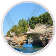 Picture Rocks Round Beach Towel