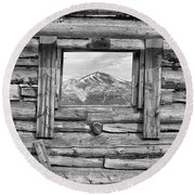 Round Beach Towel featuring the photograph Picture Window #2 by Eric Glaser