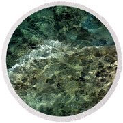 Round Beach Towel featuring the photograph Pictured Rocks II by Kenneth Campbell