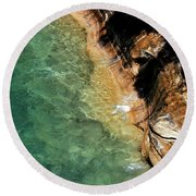 Round Beach Towel featuring the photograph Pictured Rocks by Kenneth Campbell