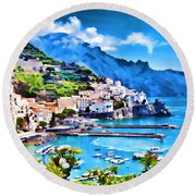 Picturesque Italy Series - Amalfi Round Beach Towel