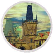 Picturesque - Prague Round Beach Towel