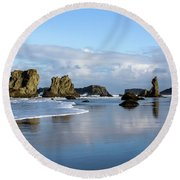 Picturesque Rocks Round Beach Towel