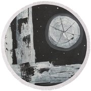 Pie In The Sky Round Beach Towel