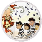 Pied Piper Trump And Infestation Round Beach Towel