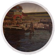 Pier 55 - Red Robin Round Beach Towel