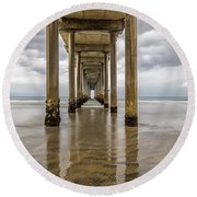 Pier Review Round Beach Towel