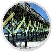Pier Strength Round Beach Towel
