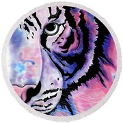 Piercing  Round Beach Towel by Mayhem Mediums