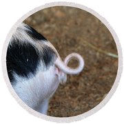 Pig Tail Round Beach Towel