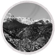 Pikes Peak And Incline 36 By 18 Round Beach Towel