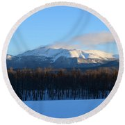 Pikes Peak From Cr511 Divide Co Round Beach Towel