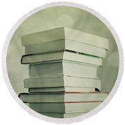 Piled Reading Matter Round Beach Towel