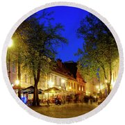 Round Beach Towel featuring the photograph Pilies Street by Fabrizio Troiani