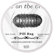 Pill Bug Armadillidium Vulgare Round Beach Towel