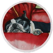 Pillow Pup Round Beach Towel