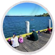 Pilot Bay 1 - Mount Maunganui Tauranga New Zealand Round Beach Towel