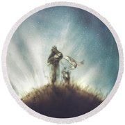 Pilot, Little Prince And Fox Round Beach Towel