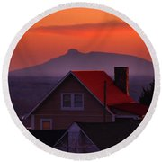 Pilot Sunset Overlook Round Beach Towel by Kathryn Meyer