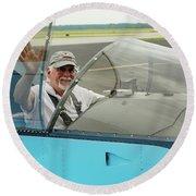 Pilot Vic Vicari Round Beach Towel