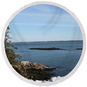 Pine Coast Round Beach Towel